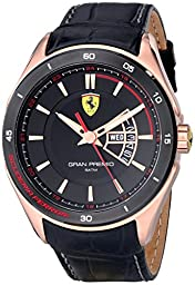 Ferrari Men\'s 0830185 Gran Premio Analog Display Quartz Black Watch