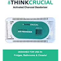 Activated Bamboo Charcoal Air Deodorizer, Odor Eliminator, Odor Neutralizer, Smell Remover, Air Purifier Perfect for Refrigerators, Bathrooms & Closets, by Think Crucial