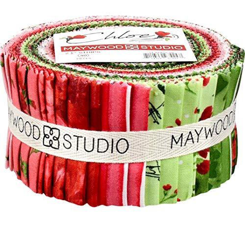 [해외]클로이 제라늄 40 2.5-인치 스트립 젤리 롤 메이 우드 스튜디오 / Chloe Geraniums 40 2.5-inch Strips Jelly Roll Maywood Studio