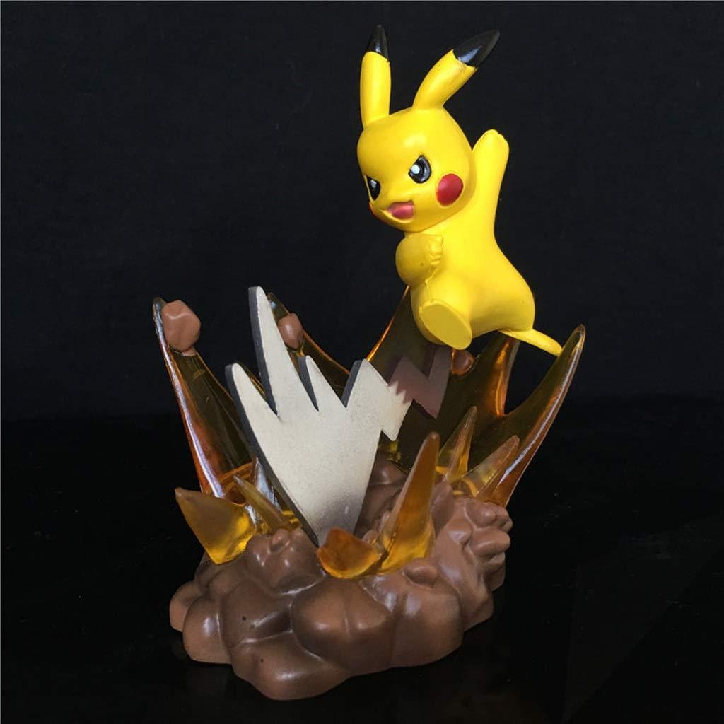 KLEDDP Jouet modèle jouet statue Pokemon anime caractère bureau à domicile décoration / décorations / souvenirs / artisanat / Pikachu / 耿 fantôme / souris boule de feu / Jenny tortue / carte que la bê
