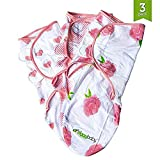 Baby Swaddle Blanket Wrap Set (3 Pack) Pink Peony, Pink Heart, Pink Buffalo Plaid: more info