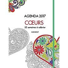 AGENDA À COLORIER 2017 COEURS