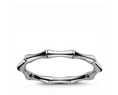 8b95deb83c56a Amazon.com: Gucci 18k White Gold bangle Bamboo collection. Size is ...
