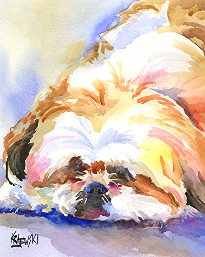 (Shih Tzu Dog Fine Art Print on 100% Cotton Watercolor Paper)