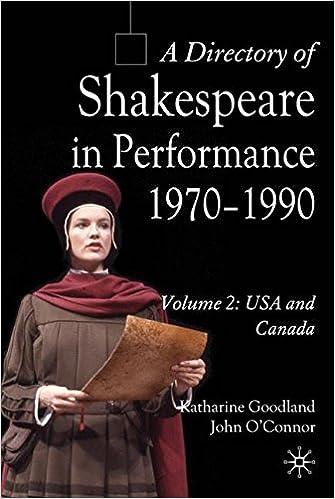 Paginas Para Descargar Libros A Directory Of Shakespeare In Performance 1970-1990: Volume 2, Usa And Canada De Epub