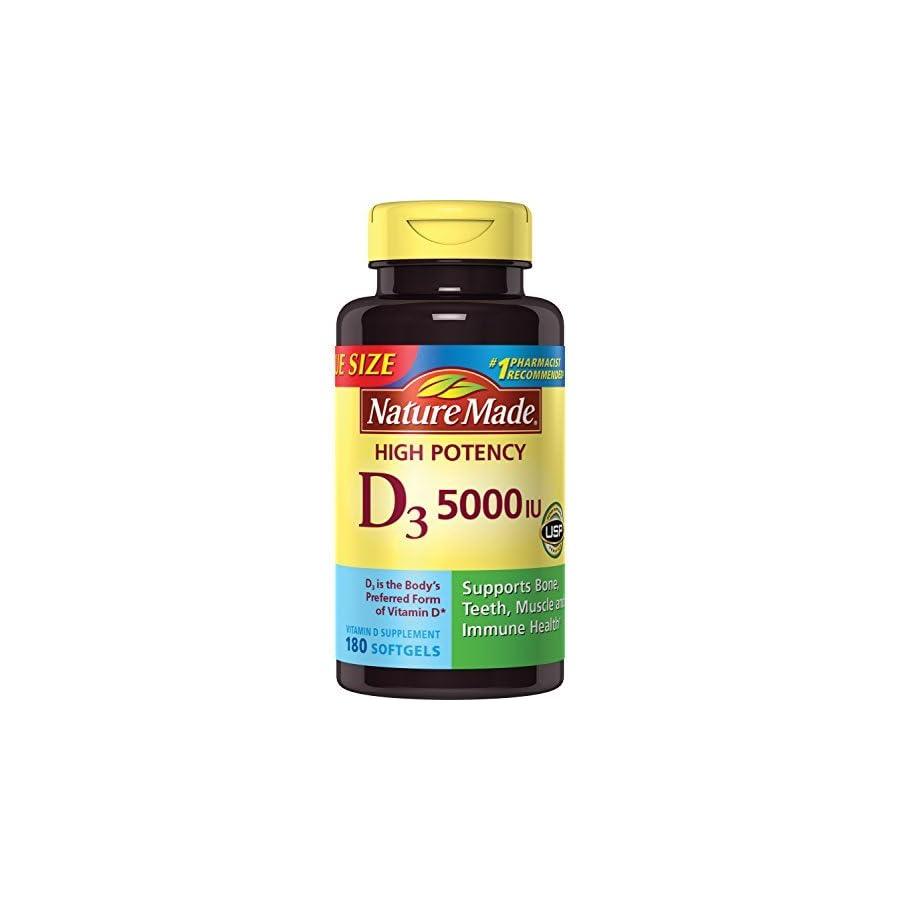 Nature Made Vitamin D3 5000 IU Ultra Strength Softgels
