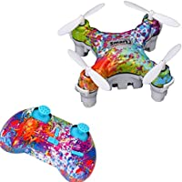 Dwi Dowellin Mini Drone RC Quadcopter Pocket Hand Blade Nano Helicopters Outdoor Toy CX-10D/Multicolor