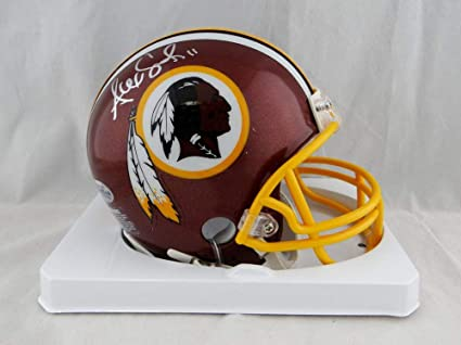 Alex Smith Autographed Washington Redskins Mini Helmet - Beckett Auth Silver 73ea7bc4b