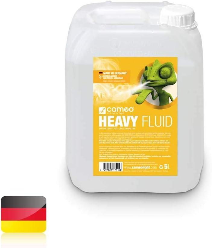 Cameo AHCLFHEAVY5L alta densidad/largo Fluid S para máquina de niebla
