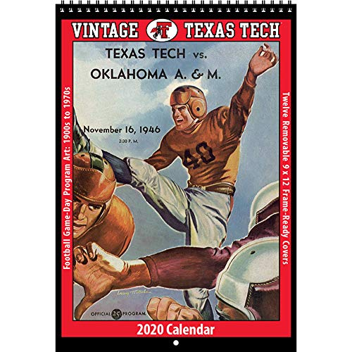 2020 Vintage Texas Tech Red Raiders Football Calendar (Raiders Calendar)