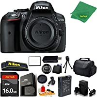 Nikon D5300 DSLR Camera Body Only (Black) + 16 GB Memory Card + Case + Reader + 6PC Starter set + Microfiber Cloth + Extra Charger - International Model