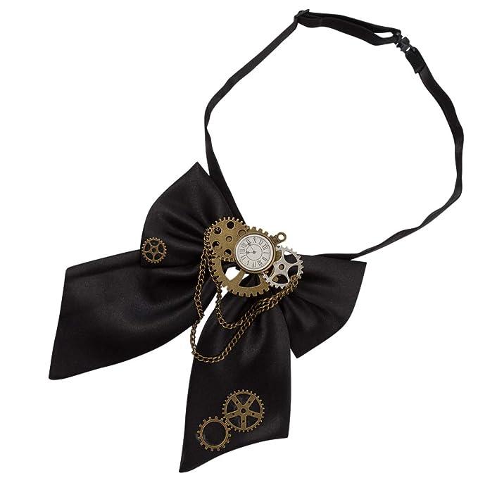 Steampunk Ties KOGOGO Gothic Bowtie Steampunk Gears Costume Tie $13.99 AT vintagedancer.com