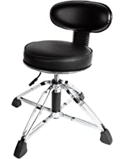 Hydraulic Drum Throne/Stool with Back Rest - 42cm to 54cm