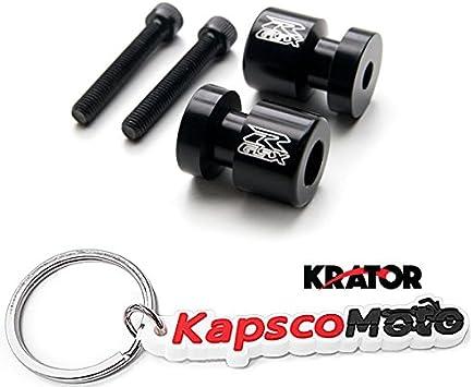 1998-2015 R1 R6 VMAX FZ1 FZ6 YZF600 and More! + KapscoMoto Keychain Krator Black Yamaha Spiked Swingarm Spools Sliders