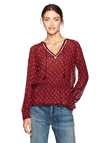 Paige Women's Truly Blouse, Rouge/White, S by PAIGE