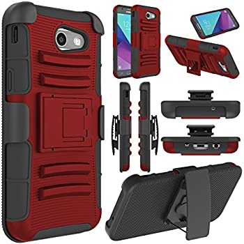 Amazon.com: Galaxy J3 Luna Pro Case,Heavy Duty Dual Layer ...