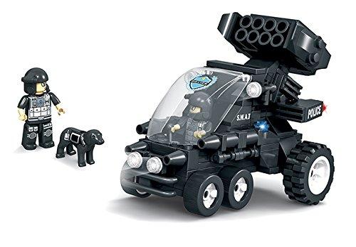 BRICTEK Childrens Swat Small Assault Vehicle 2 Interlocking Building Brick Toy