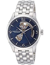 Jazzmaster Automatic Open Heart Blue Dial Mens Watch H32705141