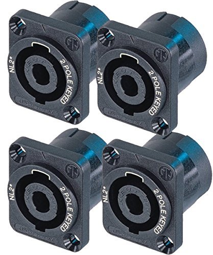 (Neutrik NL2MP (PACK OF 4) Chassis Mount Solder, 2 Pole Type Speakon Connector )