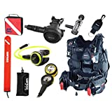 MARES Diver Package Hybrid Pure BCD Size XS/S Rover 12S Reg Oceanic Alpha 9 Octo VEO 100NX Computer Console FREE Reg Bag Marker Buoy and Retractor Scuba Diving Combo X-Small/Small