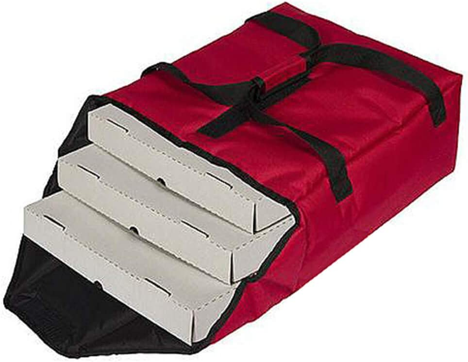 Cambro Nylon Insulated Premium Pizza Bag, Food Delivery Bag Holds (2) 16