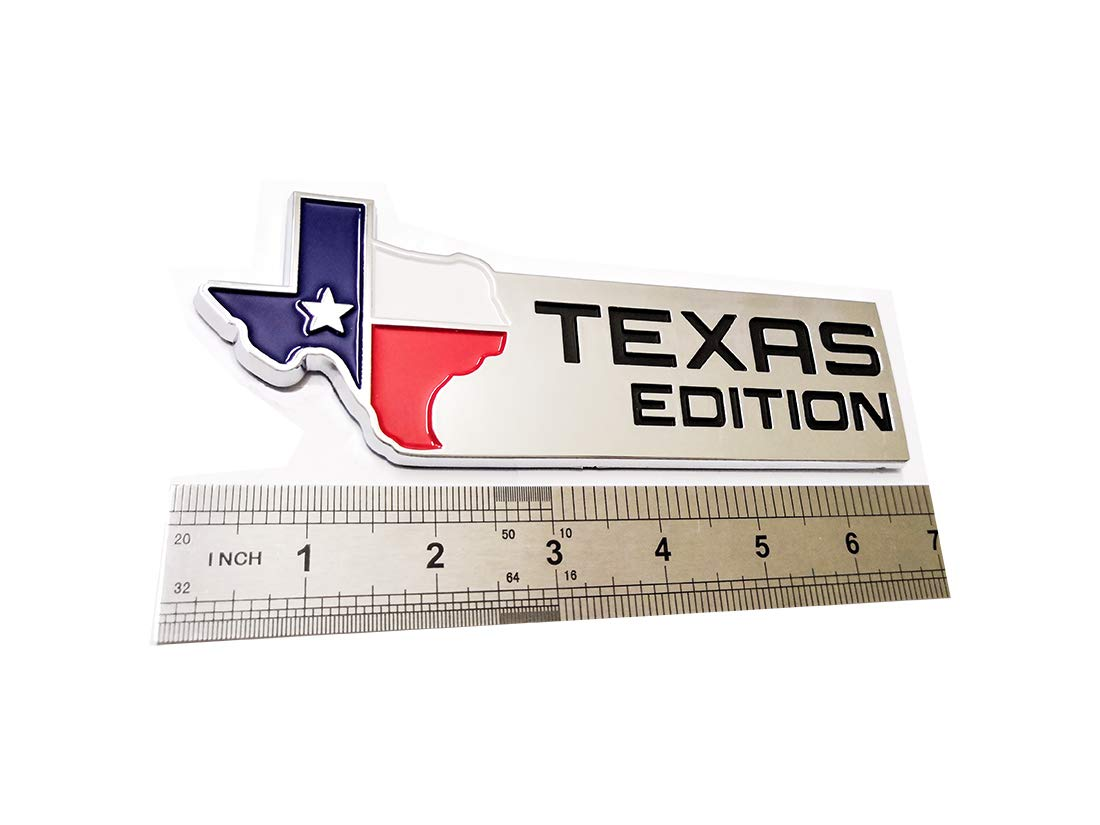1x Texas Edition Emblem 3D Badges Decal stilcers Replacement For Ford F-150 F-250 F-350 Chevy GMC Dodge Trucks Chrome