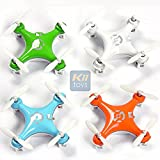 KiiToys Quadcopter Drone RC Helicopter Quad Copter Toy - Family Pack of 4 - Fly all 4 together - Micro Mini Nano Size - 3D Flip Air Light Show - 6 Axis Gyro - 4 Channels Radio Control - 2.4 ghz 100 ft range - Smallest QuadCopter in the world with KiiToys Warranty + Tech Support (Pack of 4 included Color: Orange, Green, Blue, White)