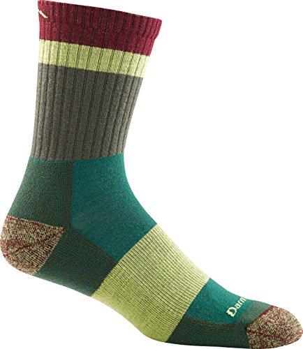Darn Tough Heady Stripe Micro Crew Light Cushion Socks - Men's Green Large by Darn Tough (Image #1)