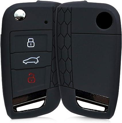 YONGYAO Silicona Coche Llave Funda Protector Remoto Control Fob para Peugeot 3008 208 308-Azul