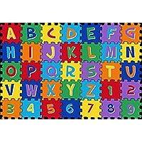 Kids Children Abc Alphabet Puzzle School Classroom 8 X 11 Educational Area Rug