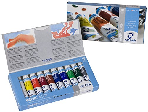 Talens Van Gogh Watercolor, 10ml, 10 Tube Set