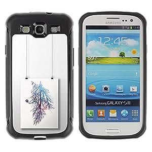 """Hypernova Defender Series TPU protection Cas Case Coque pour Samsung Galaxy S3 III I9300 [Pintura rama de árbol colorido""""]"""