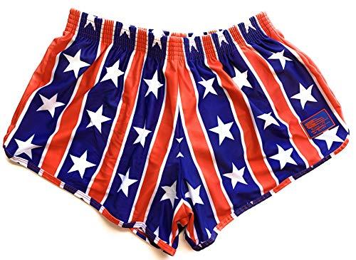 (Sunga Life Silkies | Men's Ranger Panty Training Shorts (Stars N Bars, Medium))