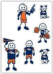 Siskiyou Sports NFL Denver Broncos Small Family Decal Set