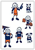 NFL Denver Broncos Small Family Decal Set