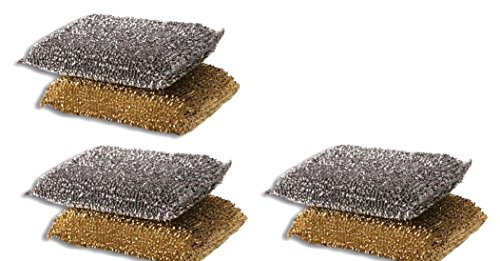(6 Cleaning Non-Scratch Scrub Sponges/Pads Made in Israel )