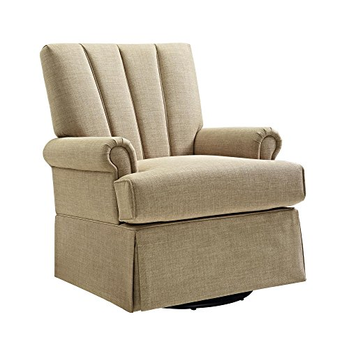 Baby Relax Parsons Swivel Glider, Toast Beige - Upholstered Rocker Recliner