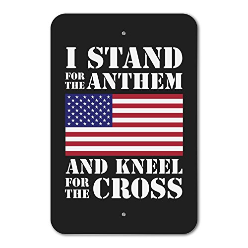 I Stand For The Flag Kneel Cross USA American Flag Patriotic