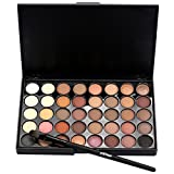 #5: Febecool Matte Eyeshadow Cream Eye Shadow Palette Shimmer Set/40 Color+ Brush Set (A)