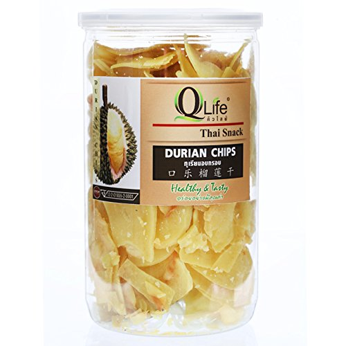 DRIED DURIAN CHIP SNACK 140G. healthy tasty snack