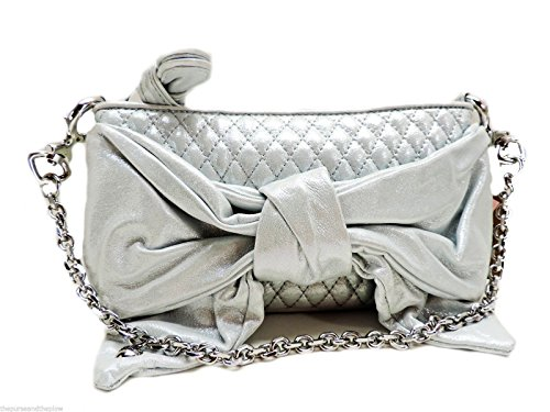 Juicy Couture Gifting Bow Capsule Clutch,Soft Eggshell Shimmer
