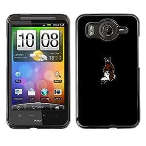 CASEX Cases / HTC G10 / Hipster Bear & Scooter # / Delgado Negro Plástico caso cubierta Shell Armor Funda Case Cover Slim Armor Defender