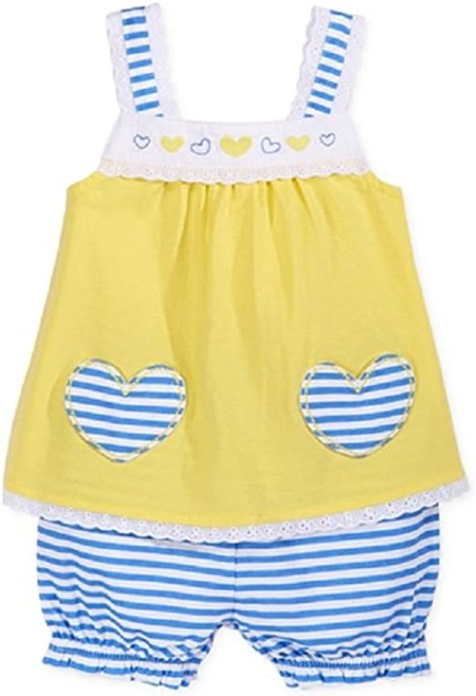 Blue First Impressions Baby Girls Heart-Print Romper
