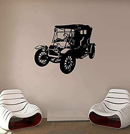 Retro Car Wall Decal Vintage Car Vinyl Sticker Automobile Wall Decor ...