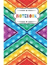 notebook: pop it fidget toy themed 120 page lined notebook