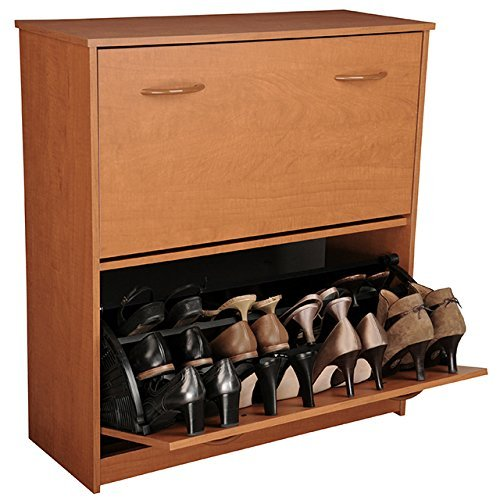 Venture Horizon Double Shoe Cabinet- Cherry by Venture Horizon