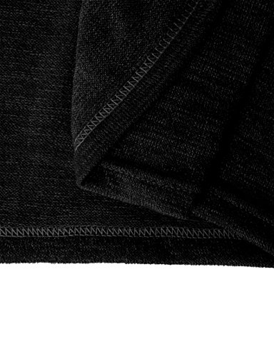 Homme Pour Tricot Basic À Décontractée Roulé Pulls Thermique En Pull Fin Kmttl028 H2h black Col HXxwqEnx5