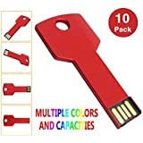 10pcs 1gb USB 2.0 Flash Drive Thumb Stick Flash Memory Drive Key Shape Drive Red