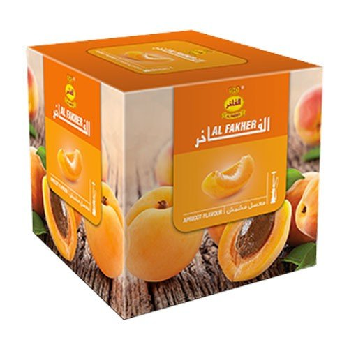 Al Fakher 250g Apricot Flavor Hookahs By S & L With Free S and L Male and Female Mouth Piece Disposable Tips by Al Fakher