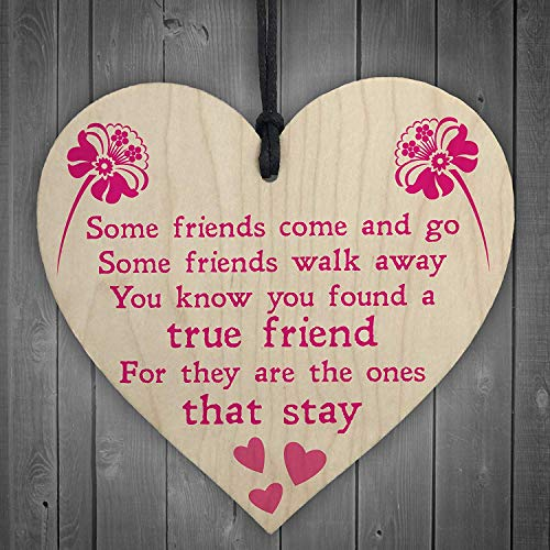 Cheyan True Friend Poem Friendship Hanging Plaque Love Family Present Sign (True Friendship Poems Best Friends)